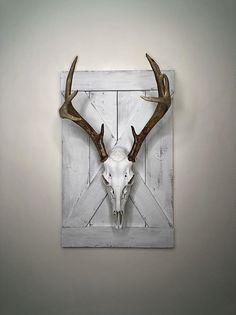 Deer Skull Decor, Deer Hunting Decor, Deer Head Decor, Antler Wall Decor, Deer Skulls, Deer Mount Decor, Antler Mount, Crane, Antler Crafts