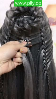 Cute Simple Hairstyles, Easy Hairstyles For Long Hair, Braids For Long Hair, Pretty Hairstyles, Braided Hairstyles, Wacky Hair, Long Hair Video, Natural Hair Styles, Long Hair Styles
