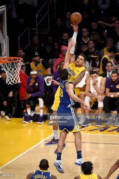 Kyle Kuzma of the Los Angeles Lakers shoots the ball against the Golden State Warriors on December 2017 at STAPLES Center in Los Angeles, California. Basketball Leagues, Sports Basketball, Basketball Court, Small Forward, Kyle Kuzma, Staples Center, Nba Draft, Anthony Davis, Magic Johnson