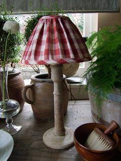 Table lamp with handmade shade Lili      NATALIE HAEGEMAN INTERIORS, Belgium via Belgian Pearls