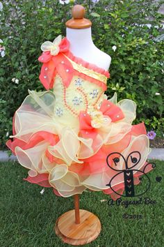 Beautiful Pageant glitz cupcake pageant dress toddler or girl