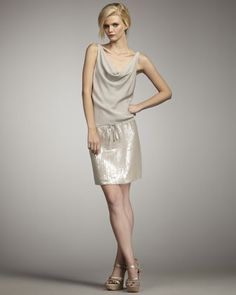 On sale!!! Tadd Sequin-Skirt Dress.