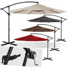 Details Zu KESSER® Alu Sonnenschirm Ø300cm Ampelschirm + Handkurbel Schirm  Gartenschirm 3m