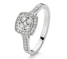 This stunning white gold diamond dress ring features TDW diamonds through an elegant square feature and along the upper arms of the ring. Certain to sparkle, this ring is a wonderful gift idea for someone special. Diamond Dress, Dress Rings, White Gold Diamonds, Diamond Rings, Arms, Sparkle, Engagement Rings, Elegant, Gifts