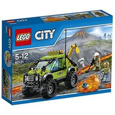 LEGO 60121 City In/Out Volcano Exploration Truck Construction Set