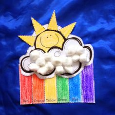 Craft for teaching weather, rainbows, or color sight words