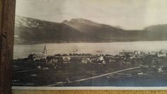 """The left half of the 8"""" X 28"""" picture of Sortland Norway that Grandpa Steiro brought with him when he immigrated."""