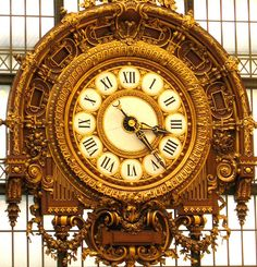 Clock in the Museo D'Orsy,Paris by rainy city, via Flickr