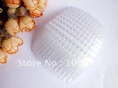 Free ship!!! 500pcs/lot Clear plastic hair comb high density teeth (Transparent) 75x45mm US $133.59