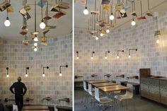 Diseño y decoración de cafeterías con librería