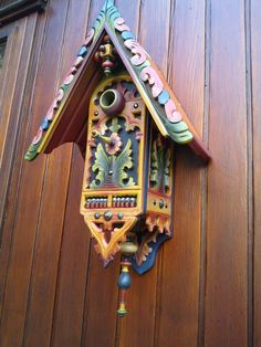 Birdhouse made from old German fretwork