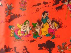 Vintage Orange Baby Play Pen Playpen Mat design by Vintouchables