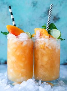 pineapple peach agua fresca from /howsweeteats/