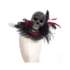 Gothic shop: RQ-BL big skull feather headdress (1033BK)