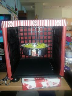 Restaurant theme:  for the candy shop I made a popcorn machine
