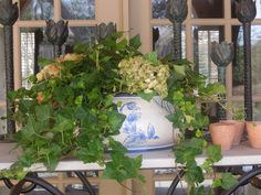 plants and florals add the finishing touch...The French Tangerine