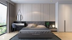 18557464_709505859220678_5725599927634330535_n.jpg (960×540) Bedroom Wardrobe, Bedroom Bed, Bedroom Apartment, Apartment Design, Bedroom Decor, Minimalist Bedroom, Modern Bedroom, Bedroom Design Inspiration, Hotel Room Design