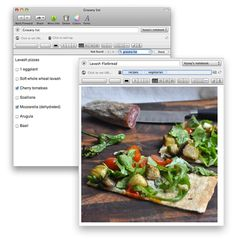 Apps like Evernote (free), MealBoard ($3.99) and PepperPlate (free) let you organize all your meal planning right inside their interface, and even import recipes you love from other sites.