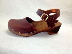 Rustic Brown Oiled Dalanna Low Heel with buckle by ChameleonClogs, $125.00
