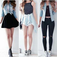 Looks kawaii, pretty outfits, classy outfits, casual outfits, fashion outfi Cute Outfits For School, Cute Winter Outfits, Summer Outfits Women, Teen Fashion Outfits, Cute Casual Outfits, Outfits For Teens, Pretty Outfits, Spring Outfits, Girl Outfits