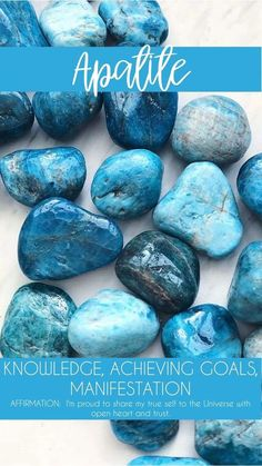 Apatite Tumbled Pocket Stone — Rocks with Sass Katharine Dever II Transformation Expert and Business Coach Crystal inspiration for spiritual health. Crystal Healing Stones, Crystal Magic, Stones And Crystals, Gem Stones, Black Crystals, Chakra Crystals, Blue Agate Meaning, Les Chakras, Minerals
