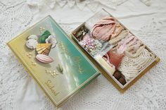Vintage French inspiration kit textile art pack by LaCroixRosion