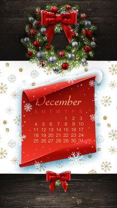 2016 Calendar, Advent Calendar, Christmas Holidays, Christmas Wreaths, Holiday Wallpaper, Patterns, Holiday Decor, Design, Home Decor