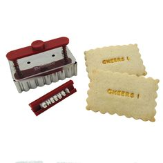 Birthday Themed Cookie Cutters - Brigitte Message on a Cookie Text Stamp & Cutter Set