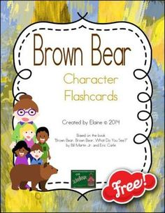 {FREEbie}  Brown Bear Character [Color] Flashcards