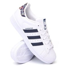 farm superstar sneakers by Adidas ($85) ❤ liked on Polyvore featuring shoes, sneakers, adidas shoes, adidas sneakers, adidas, adidas trainers and adidas footwear