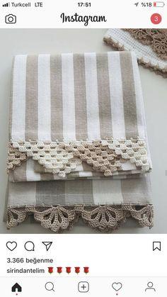 Crochet Towel, Crochet Fabric, Cute Crochet, Crochet Crafts, Knit Crochet, Cross Stitch Embroidery, Hand Embroidery, Baby Knitting Patterns, Crochet Patterns
