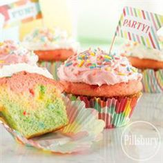 Funfetti® Color Me #Cupcakes from Pillsbury® Baking