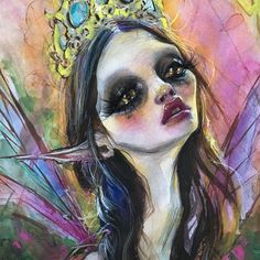 Items similar to One last wish. Fairy Queen- print by Dustin Bailard. on Etsy Love Drawings, Art Drawings, Awesome Drawings, Dustin Bailard, Fairy Queen, Hippie Art, Beautiful Fairies, Pop Surrealism, Kawaii