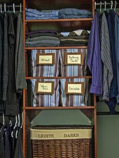 """""""Bins are fine, but they need to be space-efficient, properly labeled and specific,"""" says professional organizer Nancy Heller. """"Leave a little extra space, but don't throw a mismatched glove in there because there's room. A label helps you halt and say, 'oh, this doesn't go here.'"""" Design by Cas Aarsen"""