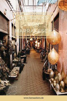 Unterwegs in den Souks von Marrakesch. Von der Medina von Marrakesch zum großen Platz dem Djemaa el Fna durch die Souks. Fotos, Empfehlungen und Tipps von meiner Reise nach Marrakesch (Marokko).