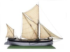 """A model of the Thames Barge """"Pandora"""" of Maldon. 40x11x32in(102x28x81cm)"""