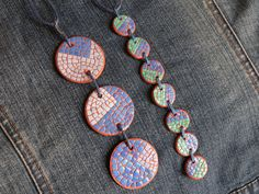 Mini Gift Polymer Clay Pendant EggShell Mosaic by MariaArts Eggshell Mosaic, Mosaic Ideas, Polymer Clay Pendant, Egg Shells, Mosaics, Turquoise Necklace, Corner, Crafty, Unique Jewelry