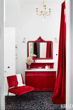 Red and White Bathroom Decor . 24 New Red and White Bathroom Decor . 39 Cool and Bold Red Bathroom Design Ideas Bathroom Red, Red Bathrooms, Bathroom Ideas, Bathroom Blinds, Design Bathroom, Bathroom Organization, Bathroom Wall, Red Home Decor, Red Cottage