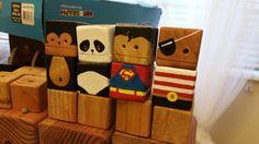 Mini lineup - wood toy, natural wood, wood robot, DIY toy #woodtoy