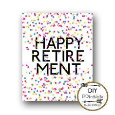 Retirement Banner Printable Black Gold Banner Happy Retirement ...
