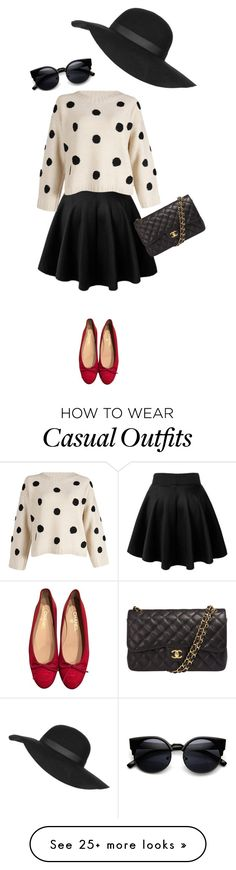 """""""Casual Chic"""" by chloepop on Polyvore featuring Chanel, Topshop, women's clothing, women's fashion, women, female, woman, misses, juniors and casualoutfit"""