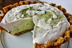 Raw Matcha Coconut Cream Pie [Vegan, Gluten-Free]. I pinned this because I love matcha and I love coconut, but more because this site has so many fabulous recipes.