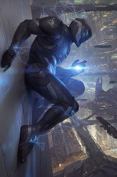 Galaxy Saga (applibot) Berserker Of Destruction by djahal future fighter solider… Arte Ninja, Arte Robot, Futuristic Armour, Futuristic Art, Futuristic Technology, Robot Concept Art, Armor Concept, Fantasy Armor, Sci Fi Fantasy