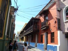 Colonial street in Santa Marta, Colombia Santa Marta, Street, Beach, Places, Pictures, Colombia, Viajes, Photos, The Beach