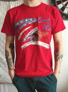 Surf USA vintage California classic t shirt with by Artiqulate, $17.17