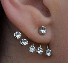 Crystal Round Ear Cuff Stud Special design and unique structure Material: silvertone, crystal Choose: Single or Pair