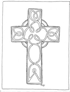 Print and Color Saint Patrick's Cross. See the comments at the blog. http://coloringpagesbymradron.blogspot.com/2013/02/print-and-color-saint-patricks-cross.html#