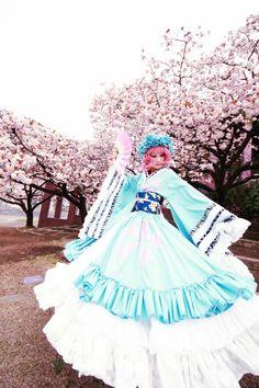 Touhou cosplay girl.