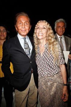 Valentino Garavani and Franca Sozzani.