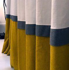 Ideas for bath panel diy window treatments Living Room Decor Curtains, Home Curtains, Curtains With Blinds, Blinds For Windows, Window Curtains, Striped Curtains, Shop Windows, Curtain Styles, Curtain Designs